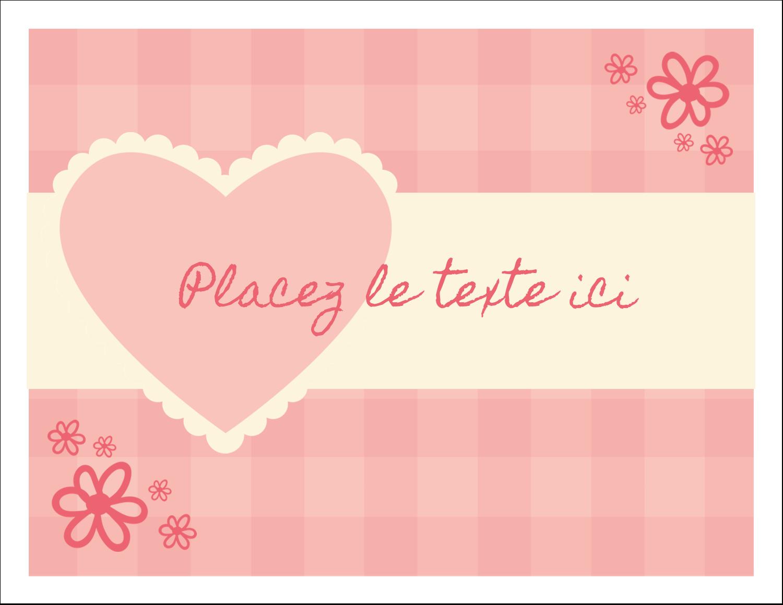 """8½"""" x 11"""" Cartes Et Articles D'Artisanat Imprimables - Guingan de la Saint-Valentin"""