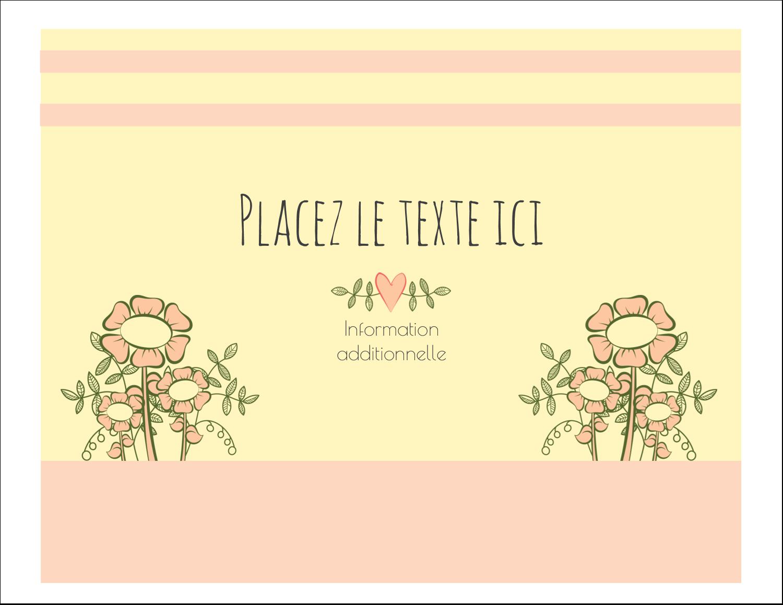 """8½"""" x 11"""" Cartes Et Articles D'Artisanat Imprimables - Dessin floral"""