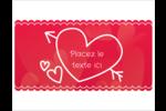 Dessin de la Saint-Valentin Cartes Et Articles D'Artisanat Imprimables - gabarit prédéfini. <br/>Utilisez notre logiciel Avery Design & Print Online pour personnaliser facilement la conception.