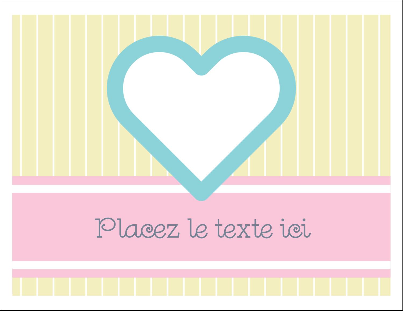 """8½"""" x 11"""" Cartes Et Articles D'Artisanat Imprimables - Cœur bleu"""
