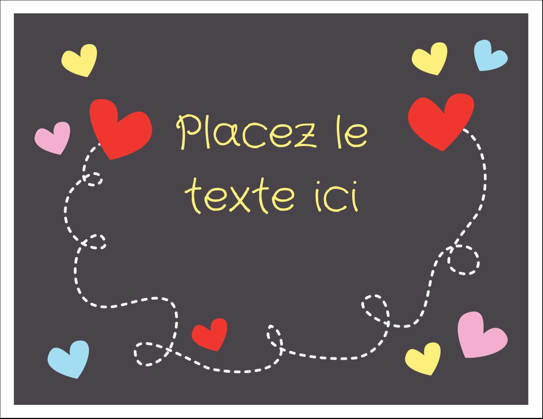 """8½"""" x 11"""" Cartes Et Articles D'Artisanat Imprimables - Saint-Valentin sur fond noir"""