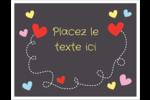 Saint-Valentin sur fond noir Cartes Et Articles D'Artisanat Imprimables - gabarit prédéfini. <br/>Utilisez notre logiciel Avery Design & Print Online pour personnaliser facilement la conception.