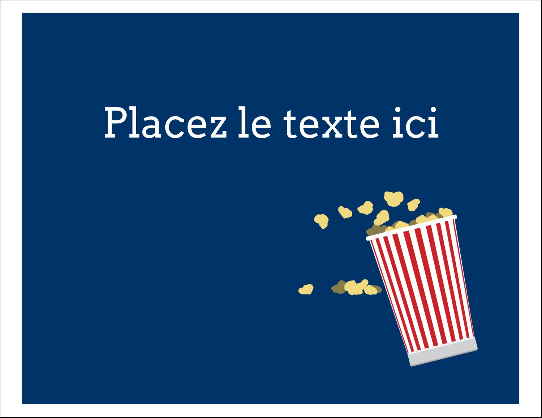 """8½"""" x 11"""" Cartes Et Articles D'Artisanat Imprimables - Popcorn et film"""