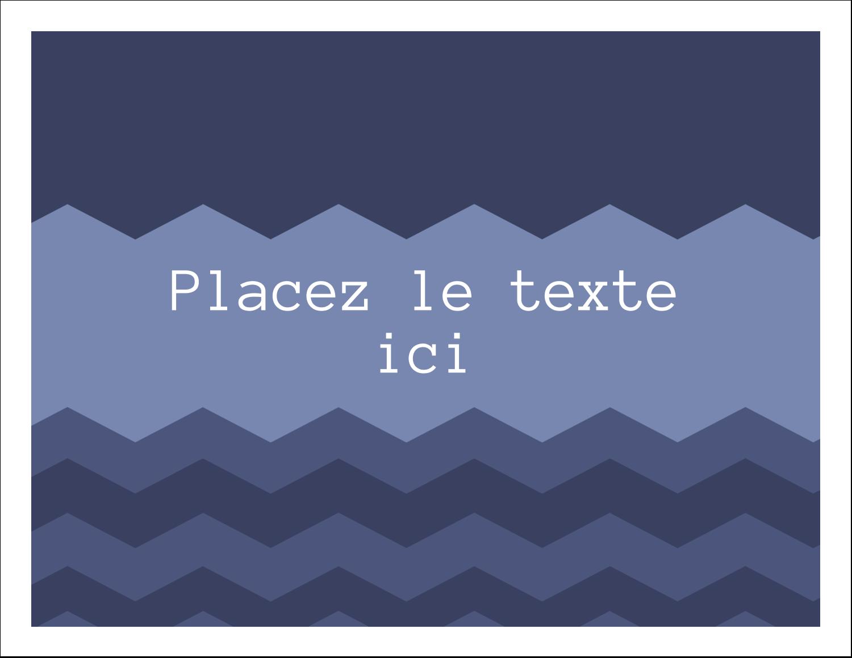 """8½"""" x 11"""" Cartes Et Articles D'Artisanat Imprimables - Chevron bleu"""