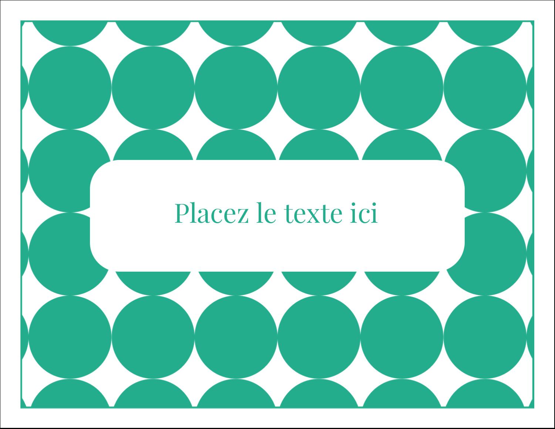 """8½"""" x 11"""" Cartes Et Articles D'Artisanat Imprimables - Cercles vert sarcelle"""