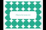 Cercles vert sarcelle Cartes Et Articles D'Artisanat Imprimables - gabarit prédéfini. <br/>Utilisez notre logiciel Avery Design & Print Online pour personnaliser facilement la conception.