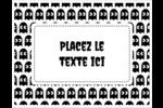 Fantômes Pac-Man d'Halloween Cartes Et Articles D'Artisanat Imprimables - gabarit prédéfini. <br/>Utilisez notre logiciel Avery Design & Print Online pour personnaliser facilement la conception.