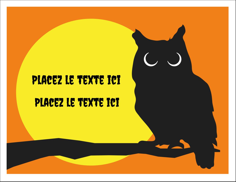 """8½"""" x 11"""" Cartes Et Articles D'Artisanat Imprimables - Chouette d'Halloween"""