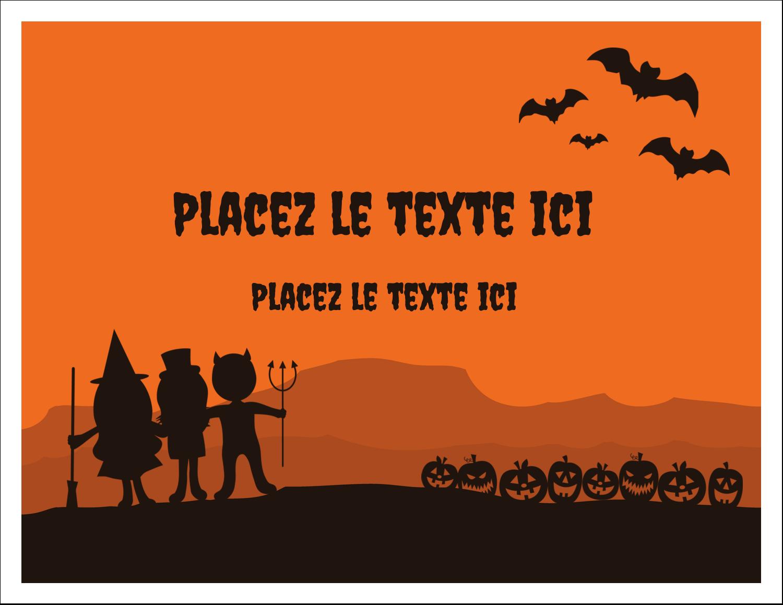 """8½"""" x 11"""" Cartes Et Articles D'Artisanat Imprimables - Enfants à l'Halloween"""