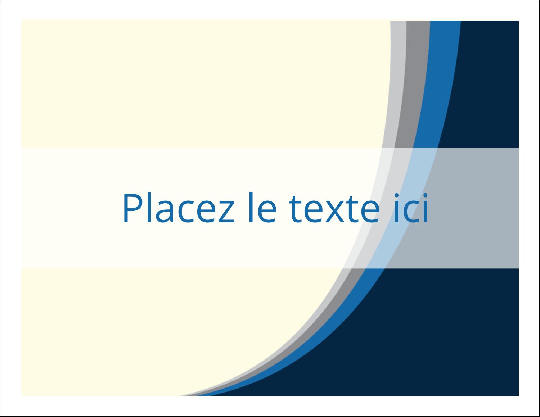"""8½"""" x 11"""" Cartes Et Articles D'Artisanat Imprimables - Vague bleue"""
