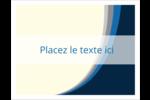 Vague bleue Cartes Et Articles D'Artisanat Imprimables - gabarit prédéfini. <br/>Utilisez notre logiciel Avery Design & Print Online pour personnaliser facilement la conception.