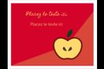 Pomme rouge Cartes de notes - gabarit prédéfini. <br/>Utilisez notre logiciel Avery Design & Print Online pour personnaliser facilement la conception.