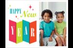 Vœux du nouvel an rétro Cartes de notes - gabarit prédéfini. <br/>Utilisez notre logiciel Avery Design & Print Online pour personnaliser facilement la conception.