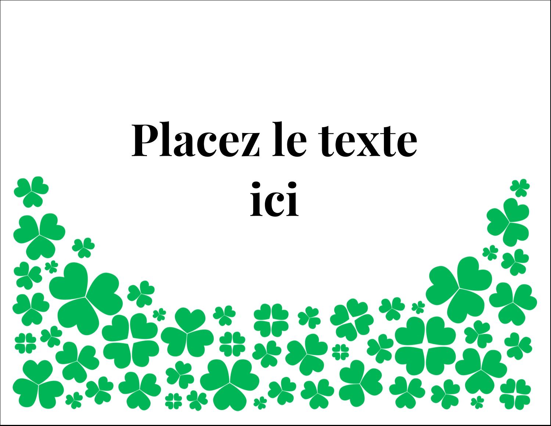 """8½"""" x 11"""" Cartes Et Articles D'Artisanat Imprimables - Pluie de trèfles de la Saint-Patrick"""