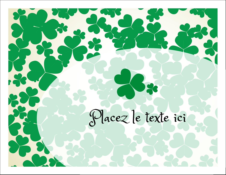 """8½"""" x 11"""" Cartes Et Articles D'Artisanat Imprimables - Arrière-plan de trèfles de la Saint-Patrick"""