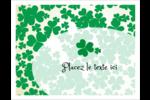 Arrière-plan de trèfles de la Saint-Patrick Cartes Et Articles D'Artisanat Imprimables - gabarit prédéfini. <br/>Utilisez notre logiciel Avery Design & Print Online pour personnaliser facilement la conception.