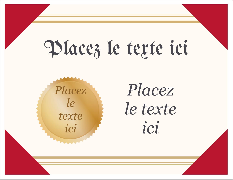 """8½"""" x 11"""" Cartes Et Articles D'Artisanat Imprimables - Diplôme d'études"""