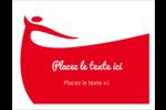 Danseuse rouge Cartes de notes - gabarit prédéfini. <br/>Utilisez notre logiciel Avery Design & Print Online pour personnaliser facilement la conception.