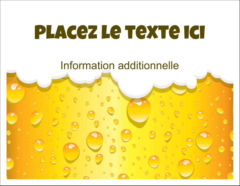"""8½"""" x 11"""" Cartes Et Articles D'Artisanat Imprimables - Image de bière"""