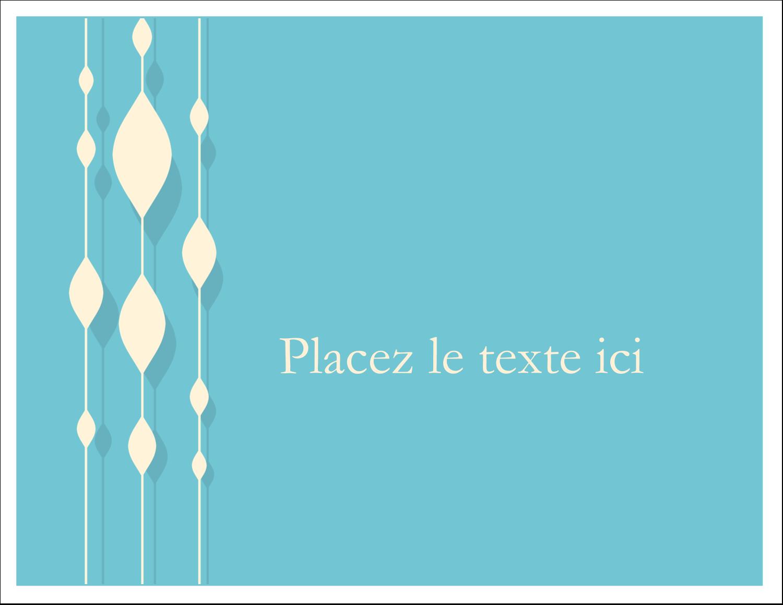 """8½"""" x 11"""" Cartes Et Articles D'Artisanat Imprimables - Rideau de perles bleues"""