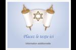 Rouleau de la Torah Cartes de notes - gabarit prédéfini. <br/>Utilisez notre logiciel Avery Design & Print Online pour personnaliser facilement la conception.