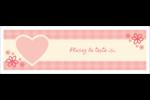 Guingan de la Saint-Valentin Carte de note - gabarit prédéfini. <br/>Utilisez notre logiciel Avery Design & Print Online pour personnaliser facilement la conception.