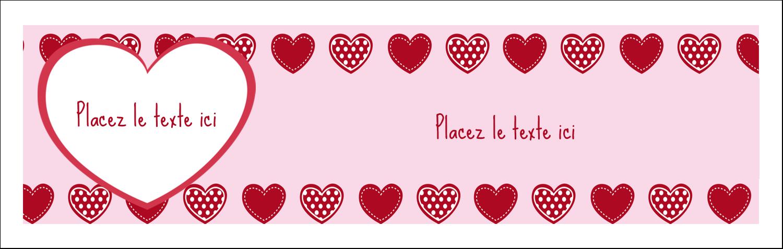 """4¼"""" x 5½"""" Carte de note - Cœur de Saint-Valentin"""