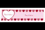 Cœur de Saint-Valentin Carte de note - gabarit prédéfini. <br/>Utilisez notre logiciel Avery Design & Print Online pour personnaliser facilement la conception.
