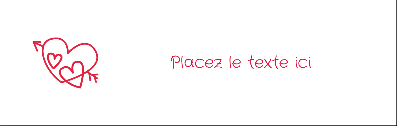 "4¼"" x 5½"" Carte de note - Dessin de la Saint-Valentin"