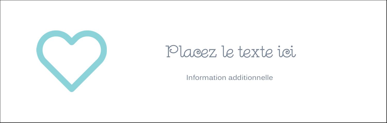 """4¼"""" x 5½"""" Carte de note - Cœur bleu"""
