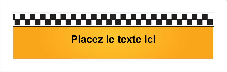 """3½"""" x 11"""" Affichette - Échiquier taxi"""