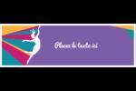 Danse en couleur Affichette - gabarit prédéfini. <br/>Utilisez notre logiciel Avery Design & Print Online pour personnaliser facilement la conception.