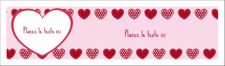 """3½"""" x 11"""" Affichette - Cœur de Saint-Valentin"""