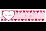 Cœur de Saint-Valentin Affichette - gabarit prédéfini. <br/>Utilisez notre logiciel Avery Design & Print Online pour personnaliser facilement la conception.