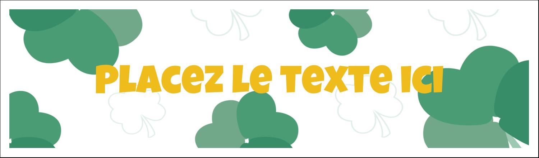 """3½"""" x 11"""" Affichette - Trèfles en cœur de la Saint-Patrick"""