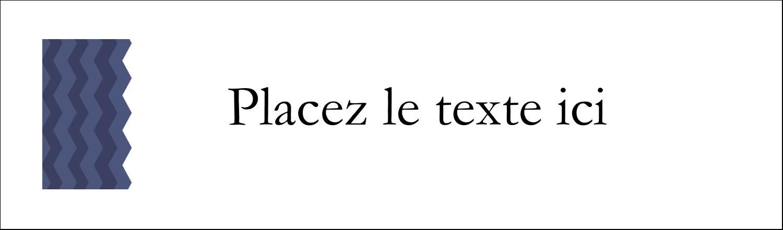 """3½"""" x 11"""" Affichette - Chevron bleu"""