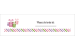 Quatre cadeaux Affichette - gabarit prédéfini. <br/>Utilisez notre logiciel Avery Design & Print Online pour personnaliser facilement la conception.