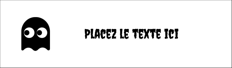 """3½"""" x 11"""" Affichette - Fantômes Pac-Man d'Halloween"""