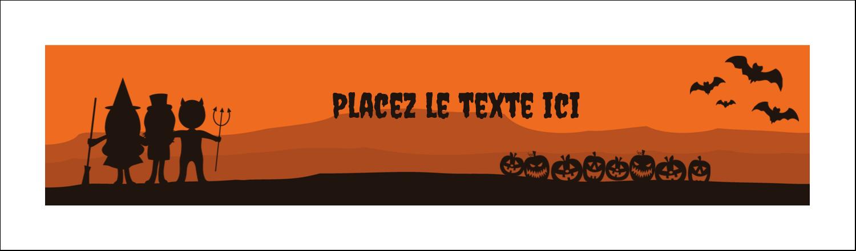"""3½"""" x 11"""" Affichette - Enfants à l'Halloween"""