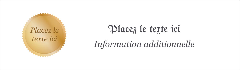 """3½"""" x 11"""" Affichette - Diplôme d'études"""