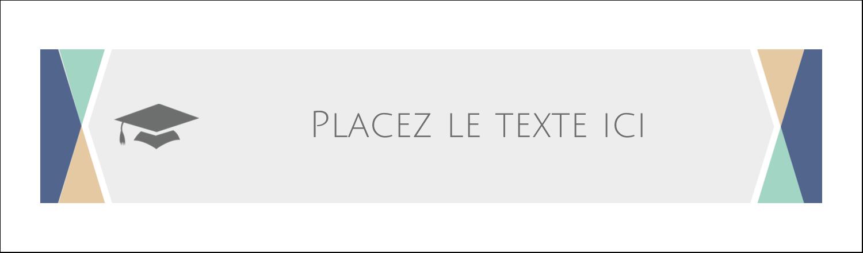 """3½"""" x 11"""" Affichette - Diplômes et couleurs"""