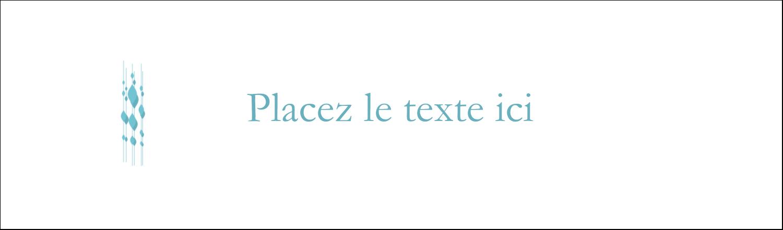 """3½"""" x 11"""" Affichette - Rideau de perles bleues"""