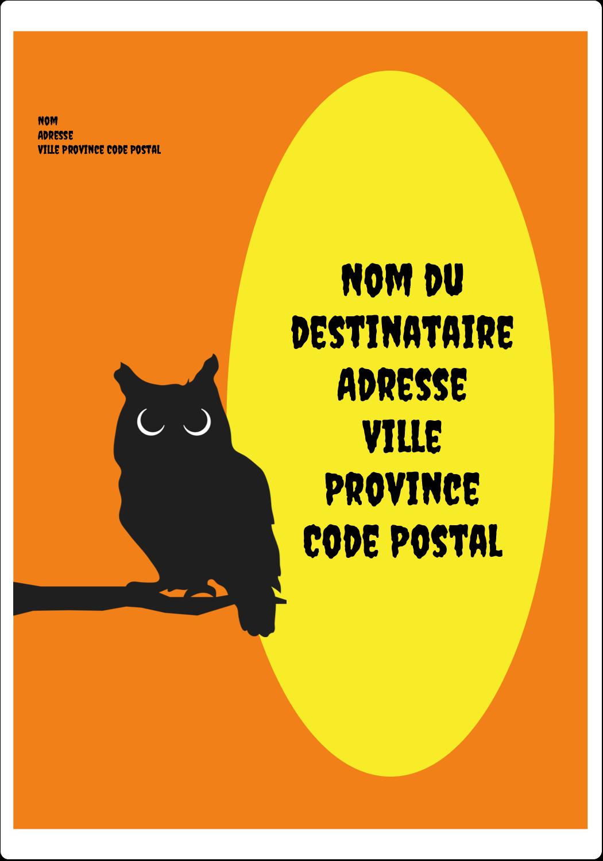 """⅔"""" x 1¾"""" Étiquettes D'Adresse - Chouette d'Halloween"""