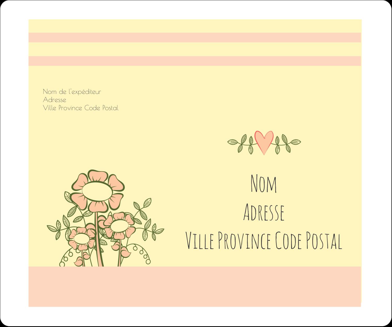 """½"""" x 1¾"""" Étiquettes D'Adresse - Dessin floral"""