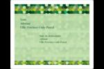 Hexagones verts Étiquettes d'expédition - gabarit prédéfini. <br/>Utilisez notre logiciel Avery Design & Print Online pour personnaliser facilement la conception.