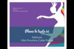 Danse en couleur Étiquettes d'expédition - gabarit prédéfini. <br/>Utilisez notre logiciel Avery Design & Print Online pour personnaliser facilement la conception.