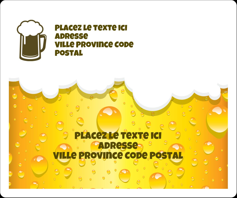 """½"""" x 1¾"""" Étiquettes D'Adresse - Image de bière"""