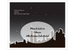Ville nocturne Étiquettes d'expédition - gabarit prédéfini. <br/>Utilisez notre logiciel Avery Design & Print Online pour personnaliser facilement la conception.