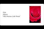 Rose rouge Étiquettes d'expédition - gabarit prédéfini. <br/>Utilisez notre logiciel Avery Design & Print Online pour personnaliser facilement la conception.