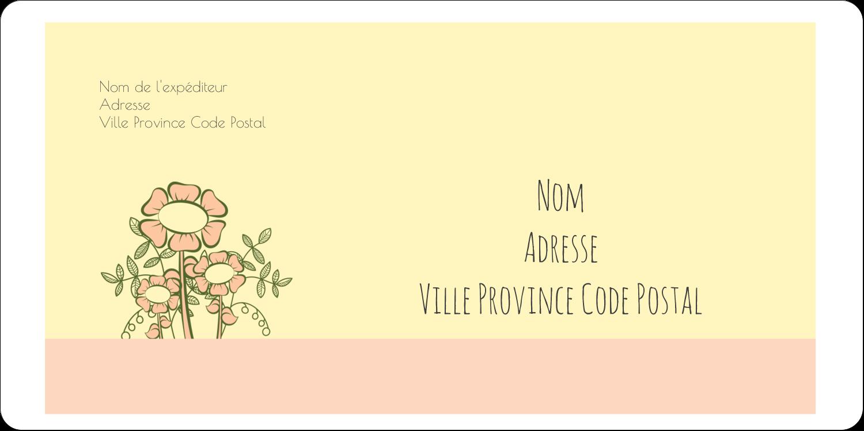 """3-7/16"""" x ⅔"""" Étiquettes de classement écologiques - Dessin floral"""